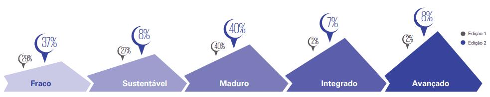 Níveis de maturidade nas empresas brasileiras